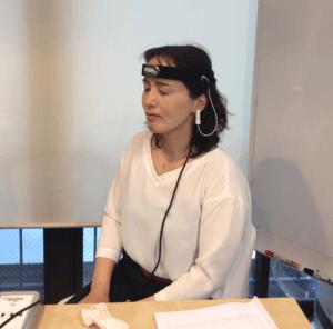 脳波測定時の写真
